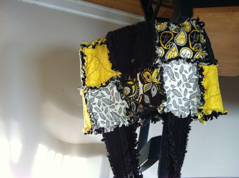 Rag quilt purse. $26.00, via Etsy.