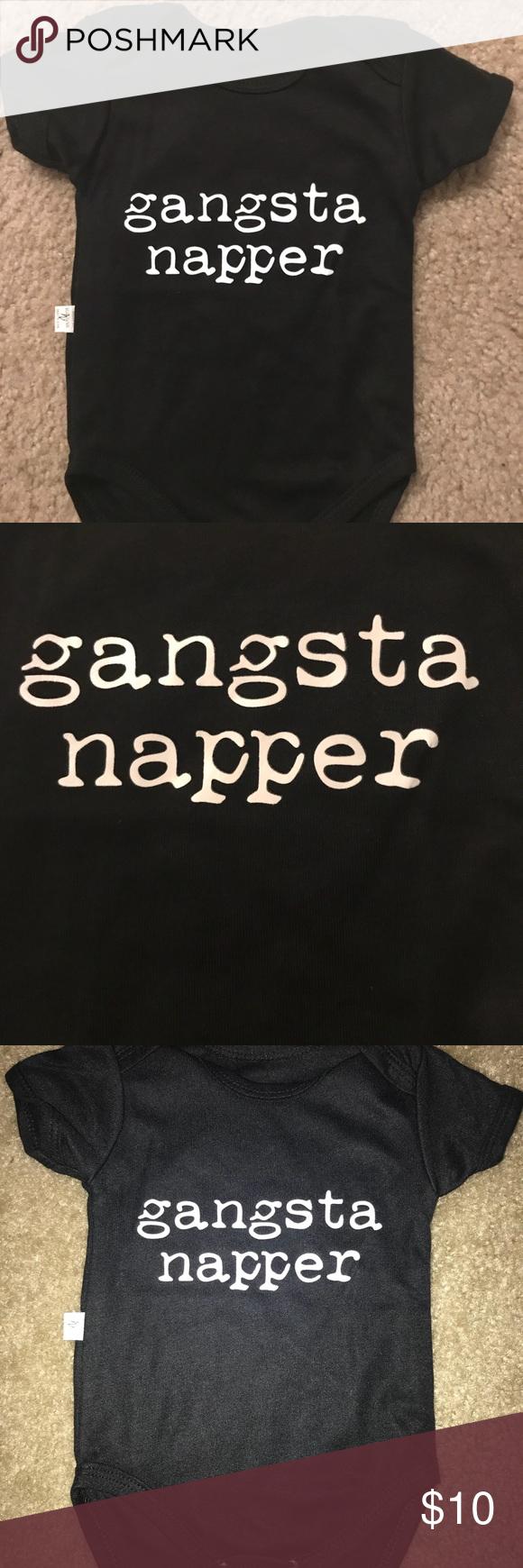 New In Wrapper Black Onesie Size 0 3 Months Black Onesie Baby Boy Outfits Gangsta Napper