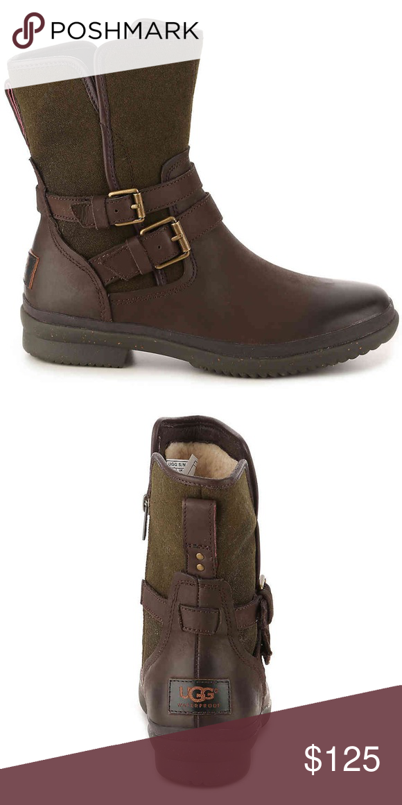 f7d14cb6073 NWT UGG Simmens Waterproof Leather Wool Boots 6 NWT UGG Simmens ...