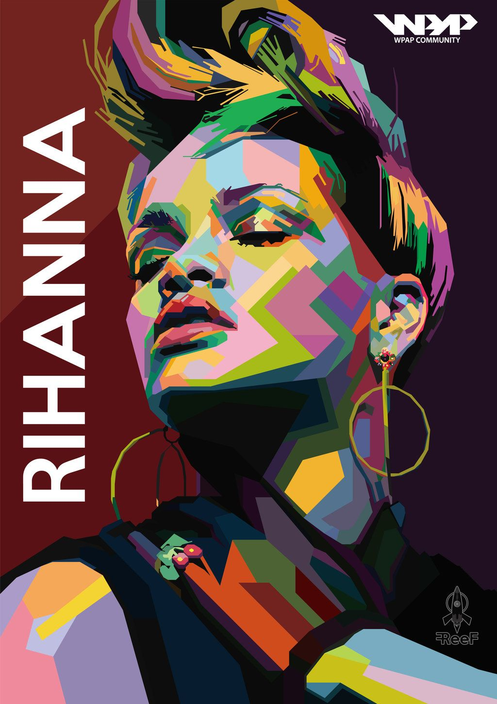 #WPAP #Rihanna with short hair