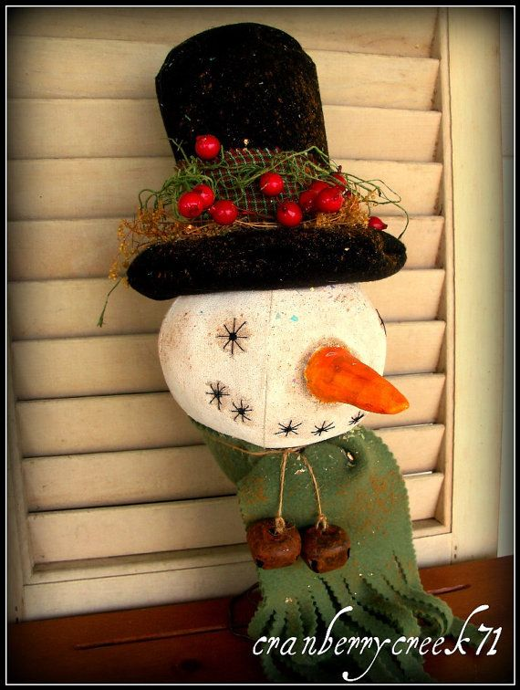 Primitive Folk art Snowman Makedo by CranberryCreek71 on Etsy, $26.99