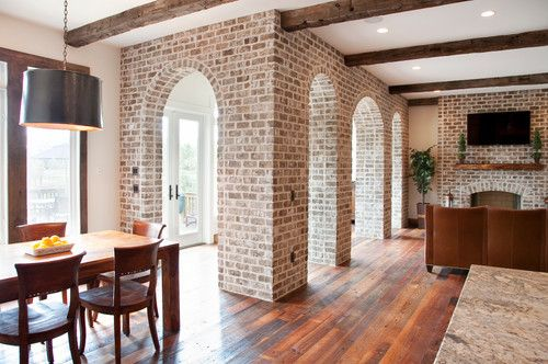 Elegant Brick Wall Photos Image Decor In Living Room Traditional Design Ideas With Arches Arch Fireplace