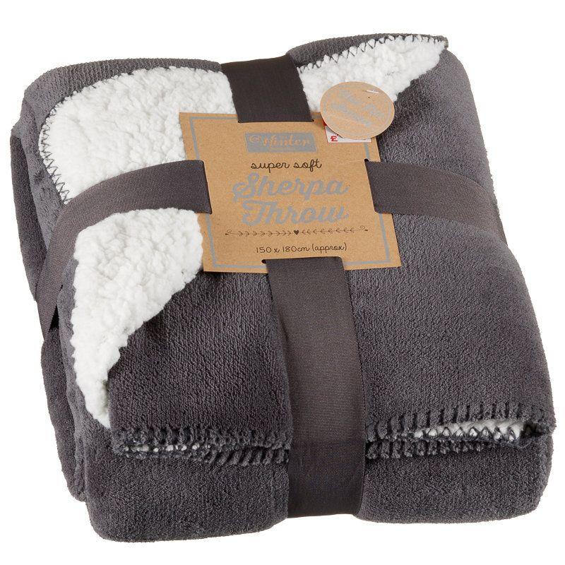 Sherpa Throw | Home | Soft Furnishings - B&M £9.99