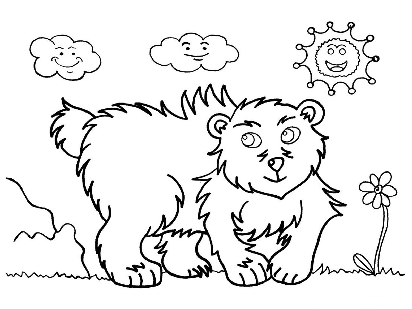 Bear Printable Kids Coloring Pages | Coloring Pages | Pinterest | Bears
