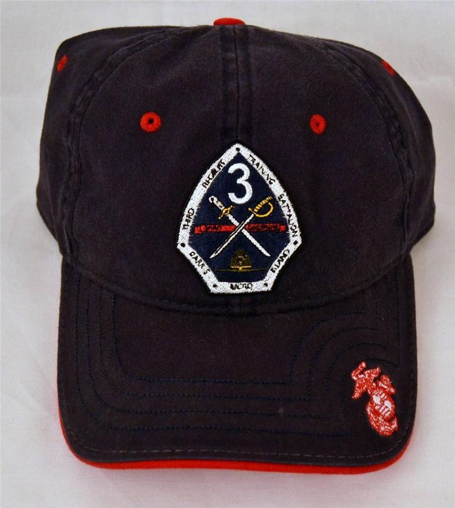 d750d96dccce6 USMC United States Marine Corps Parris Island Embroidered Hat Cap ...