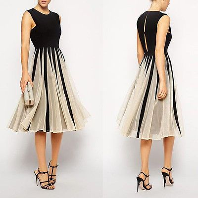 Damen Chiffon Maxikleid Kleid Frauen Partykleid spleiß ...