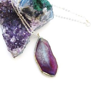 Amethyst Agate Necklace, now featured on Fab.