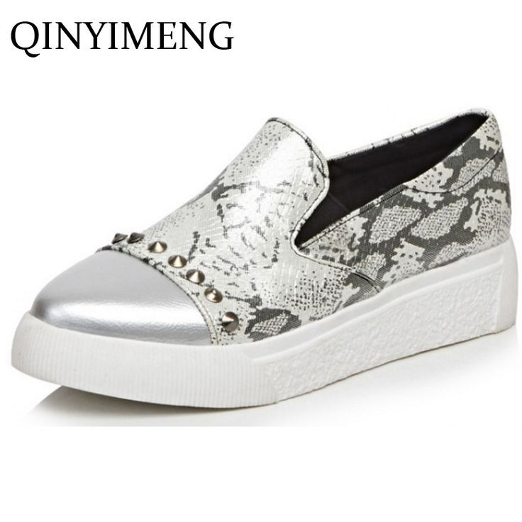 Tendance Chaussures 2017/ 2018 : 2017 Slip On Women Shoes Casuals With  Rivets Casuel Shoes