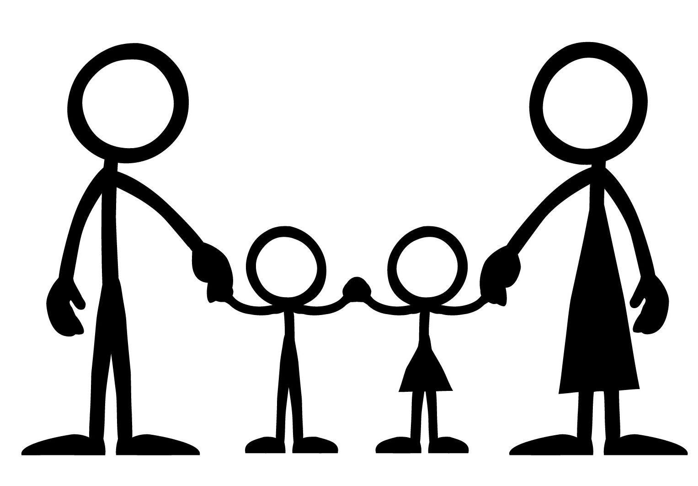 Great children dont just happen stick figure family