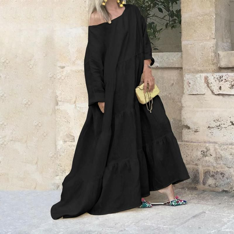 Bohemian Floor-Length Dress