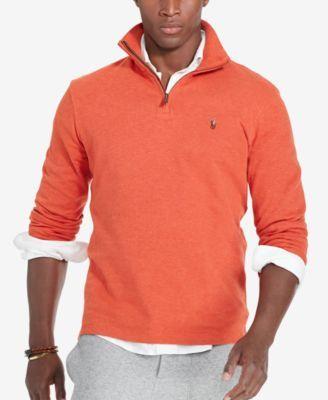 Polo Ralph Lauren Men's Estate Rib Half Zip Sweater - Varsity Orange S