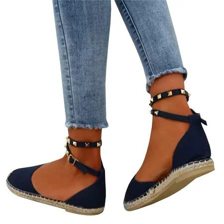 a23dd69e5 Plus Size Comfortable Adjustable Rivet Buckle Sandals – luckinbag ...