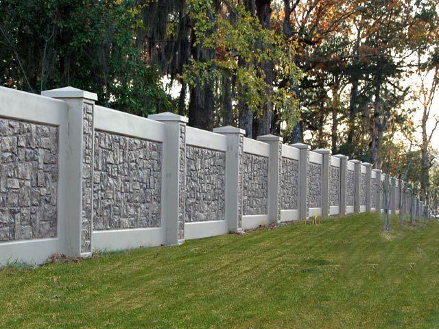 Photos Pictures Images Concrete Fence Wall Forming System Disenos De Bardas Bardas De Casas Cercas De Casas