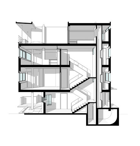Le corbusier redrawn features all of the self sufficient for Maison domino