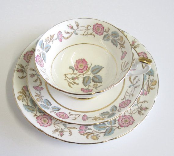 Vintage Tea Trio Imperial Fine Bone China by TheWhistlingMan, £12.00