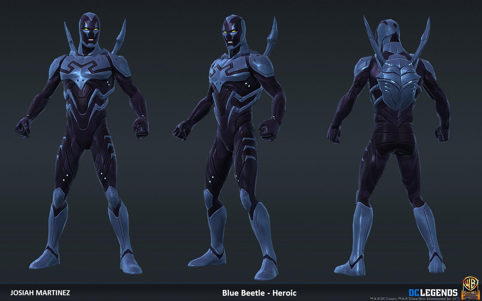 DC Legends Character Art Character art, Art, Blue beetle