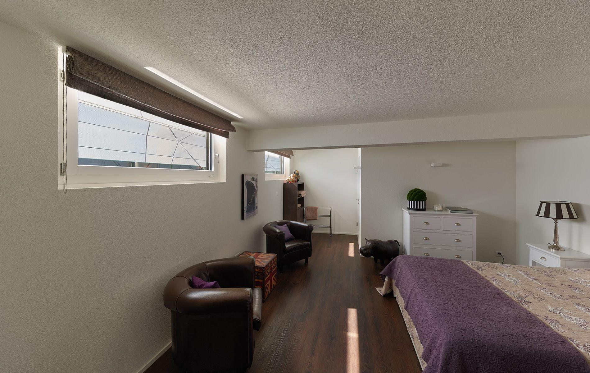Schlafzimmer im Untergeschoss Wohnen, Wohnung