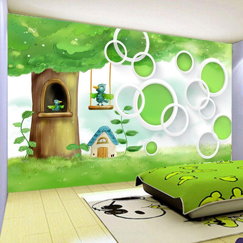 Pas cher personnalis 3d mur mural papier peint de haute for 4 murs papier peint chambre