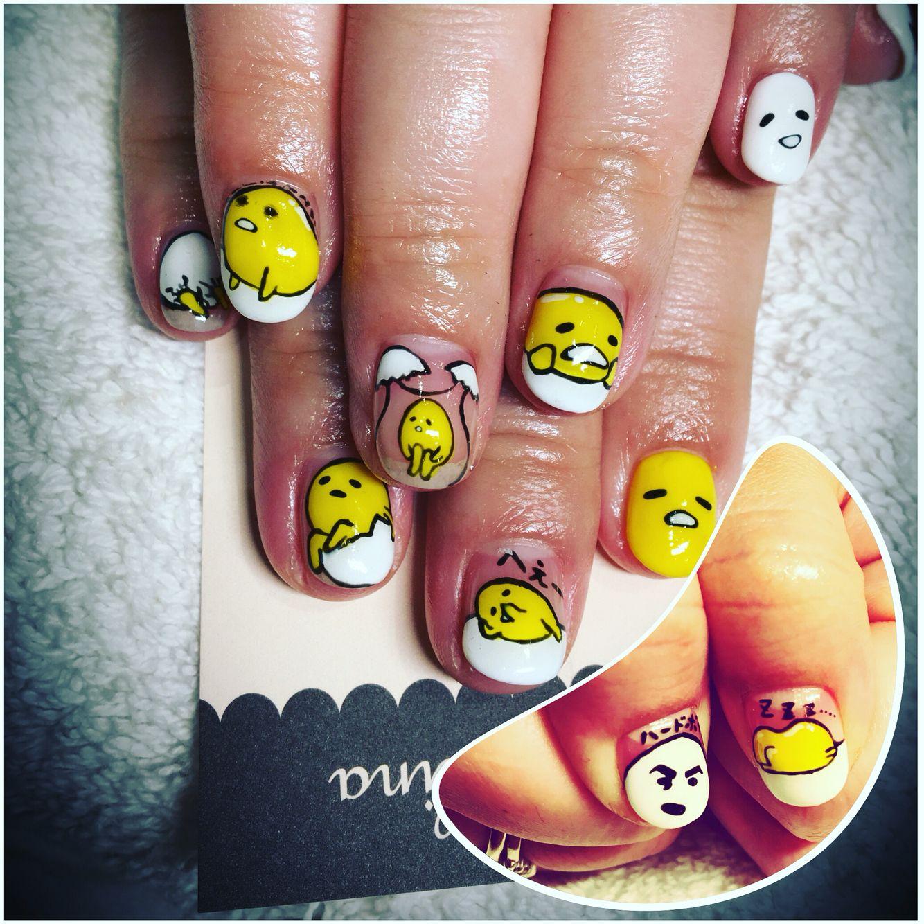 Gudetama nails by marcelina nails in old Torrance | ногти ...