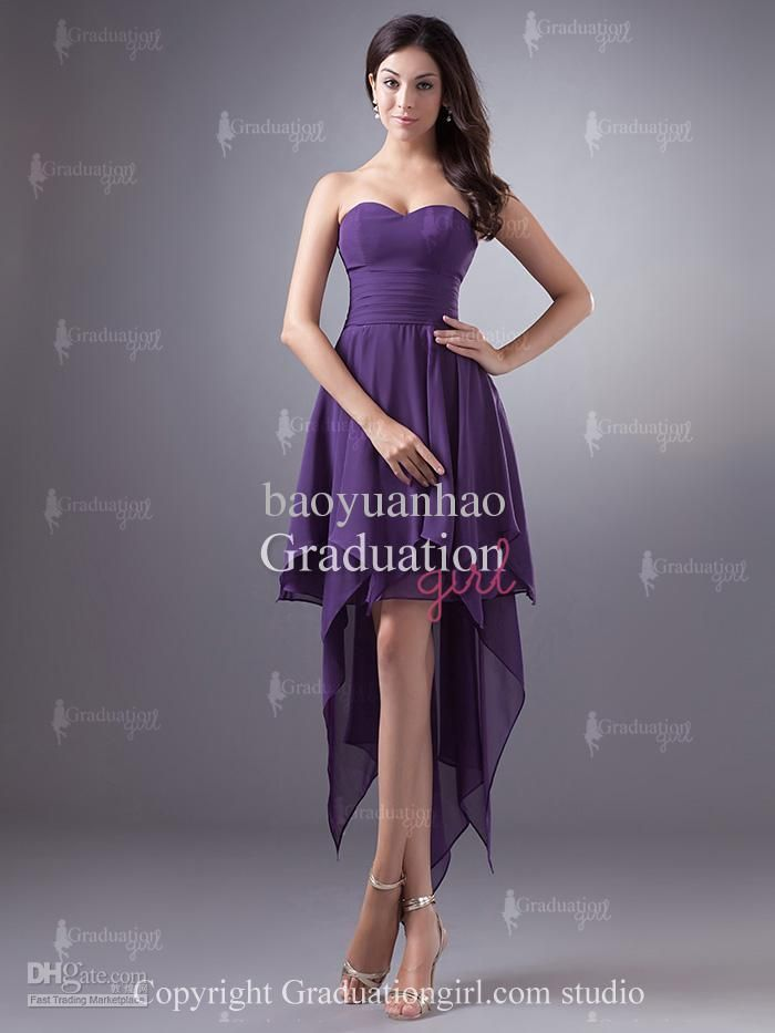 Wholesale Cocktail Dresses - Buy 2013 Beach Summer A Line Hi-Lo Knee ...