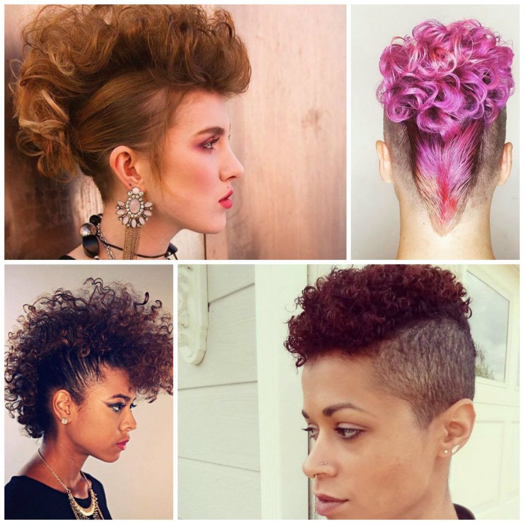 2017 curly mohawk hairstyles for women   mohawk chicks   pinterest