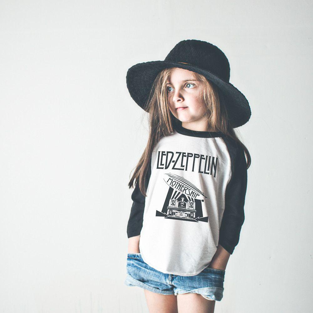 b962d4c5 Zeppelin | Baseball Raglan Shirt | Rocker Chick Led Zeppelin Long Sleeved  Top | kids + toddler + baby fashion clothing | silk screen tee shirt | baby  ...
