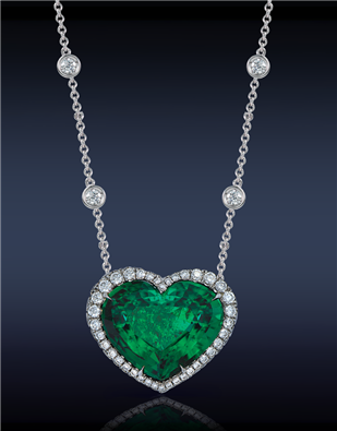 Heart emerald diamond pendant by jacob and co emeralds with heart emerald diamond pendant by jacob and co aloadofball Images