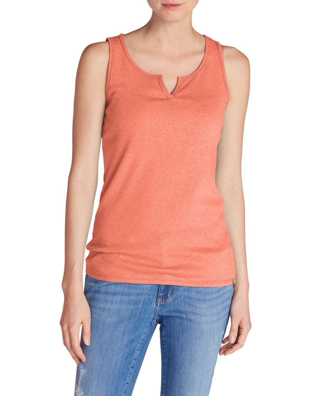 8a668c3bca771e Women s Favorite Notched-neck Tank Top