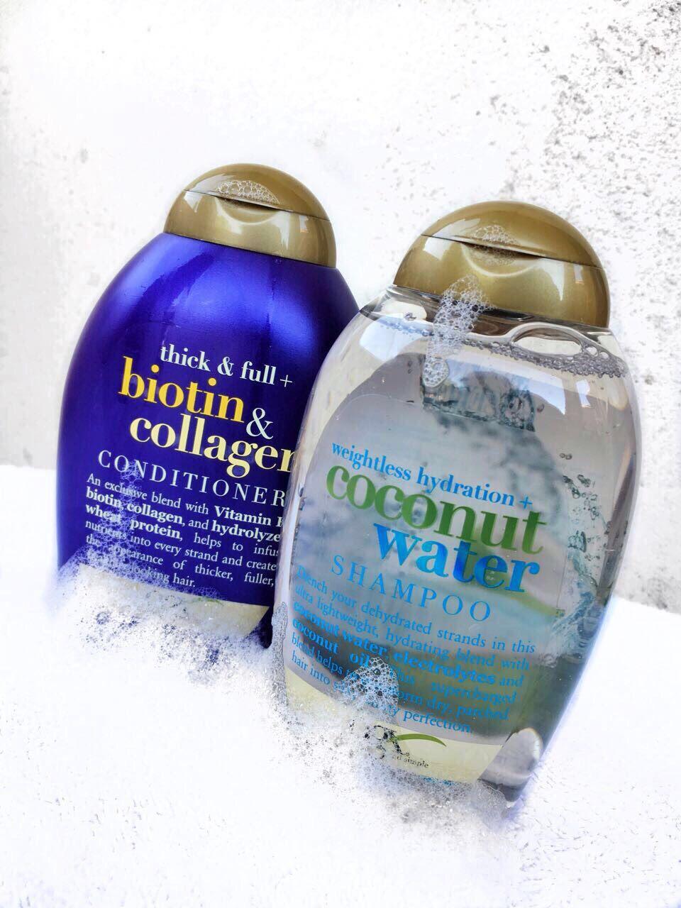 OGX COCONUT WATER SHAMPOO AND BIOTIN & COLLAGEN