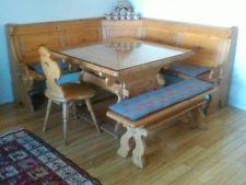 German Bavarian Table And Corner Bench Kitchen Breakfast Nook Booth Dining Set Kitchen Furni Kitchen Table Settings Dining Room Seating Rustic Dining Room