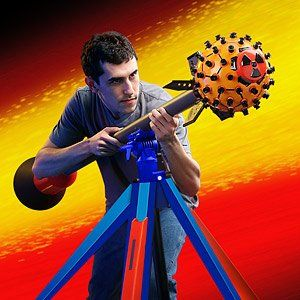 Amazon.com: NERF Nuke Launcher with Tripod (Deploys 80 Darts at Once) - Over 5 FEET LONG / YOU WIN! - Limited Edition: Everything Else