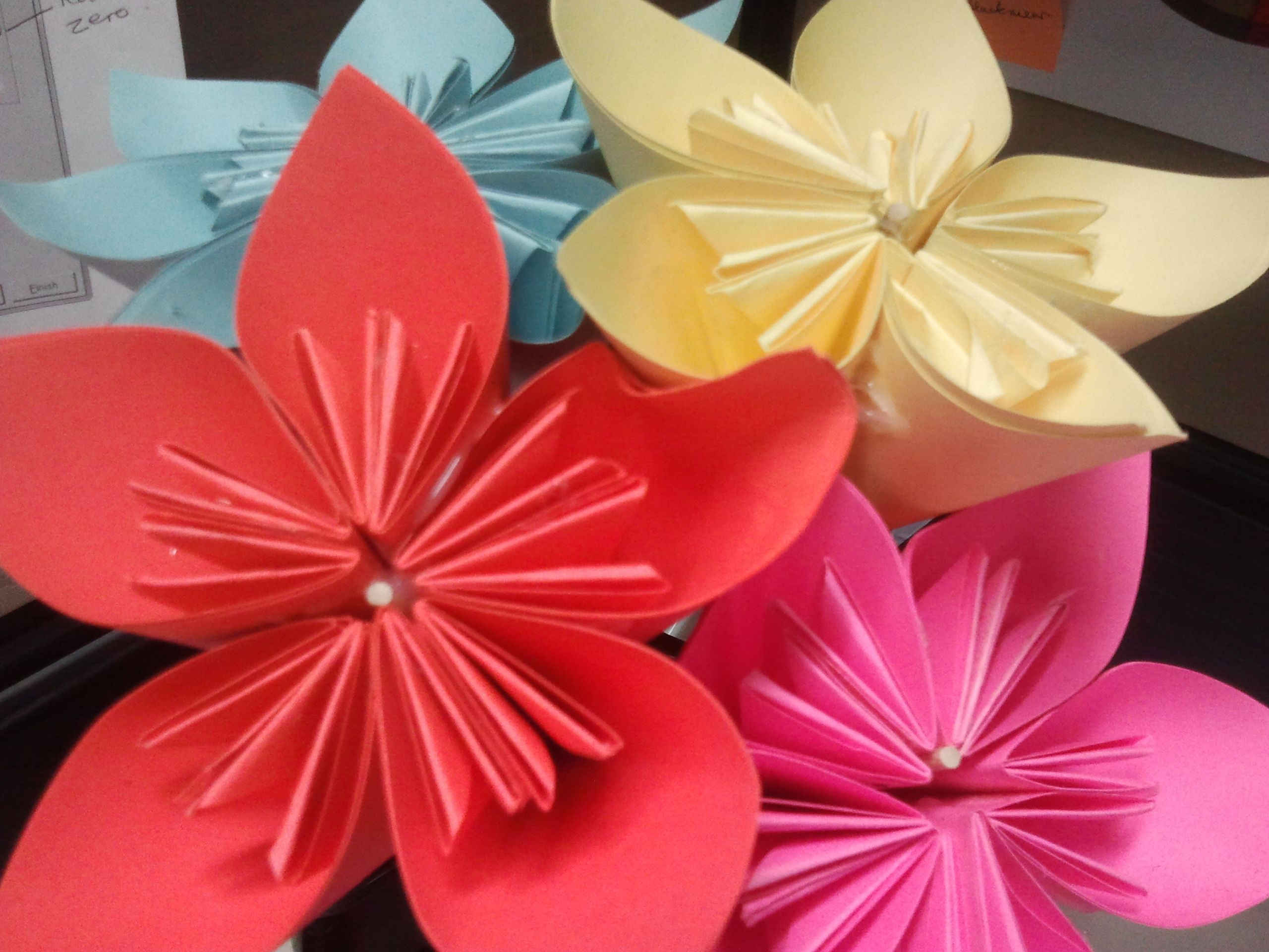 Cardstock paper flowers handmade by me love them do it yourself cardstock paper flowers handmade by me love them do it yourselfpaper mightylinksfo Images