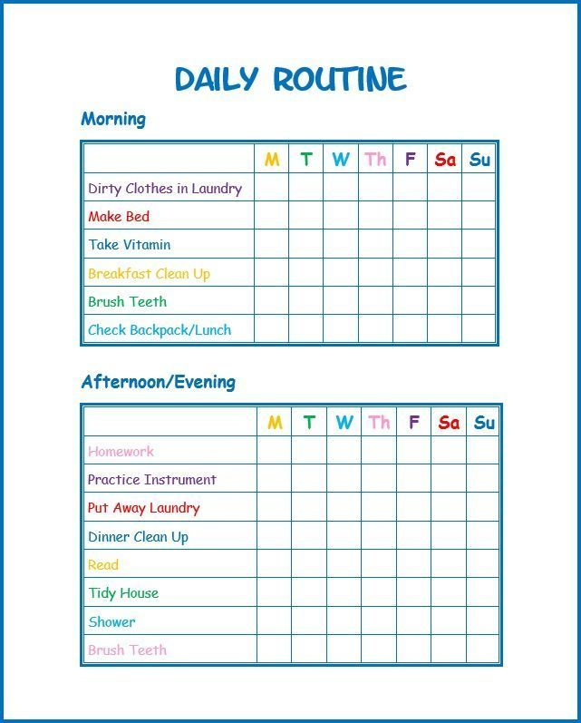 Use This Free Kids Daily Routine Printable To Develop Good Habits