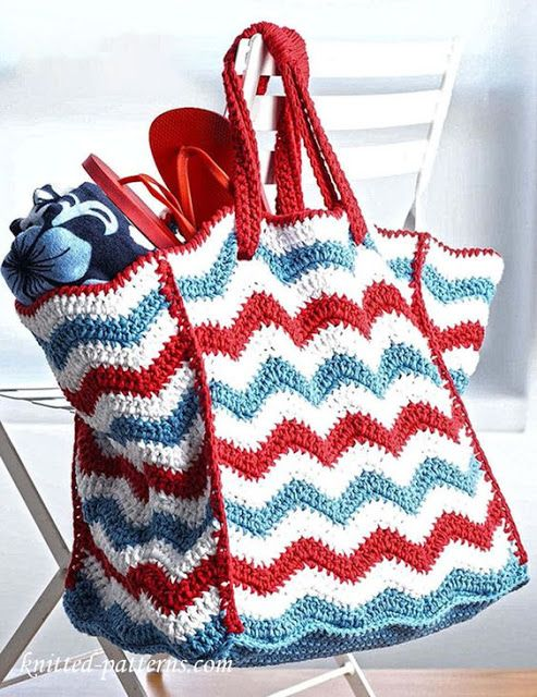 6 Free Crochet Beach Bags Patterns (Little Treasures) | Crochet ...