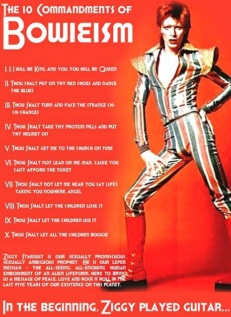 THE 10 COMMANDMENTS OF BOWIEISM