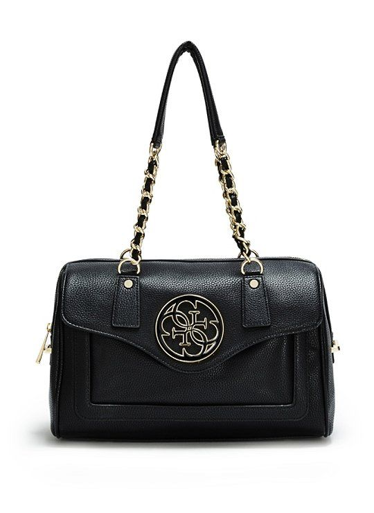 b36387fe90 New purse from the Guess store at Bayside Miami. Enamel Quattro G Satchel