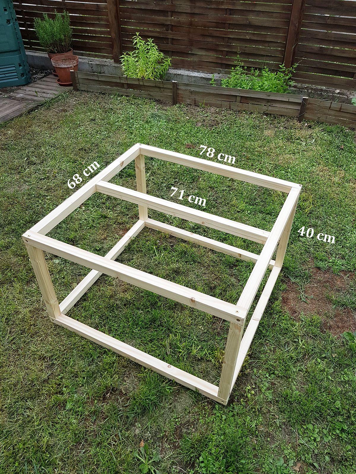 structure bois table basse industrielle fabriquer in. Black Bedroom Furniture Sets. Home Design Ideas