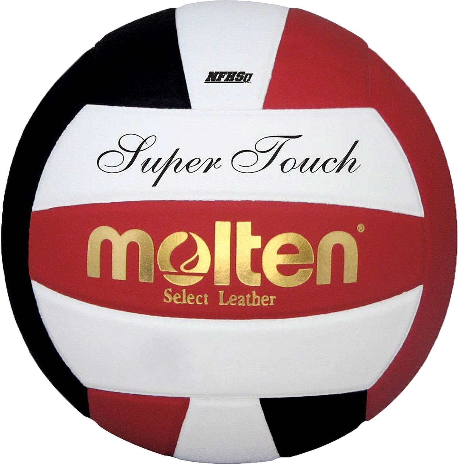 Molten Super Touch Indoor Volleyball Red Voleybol