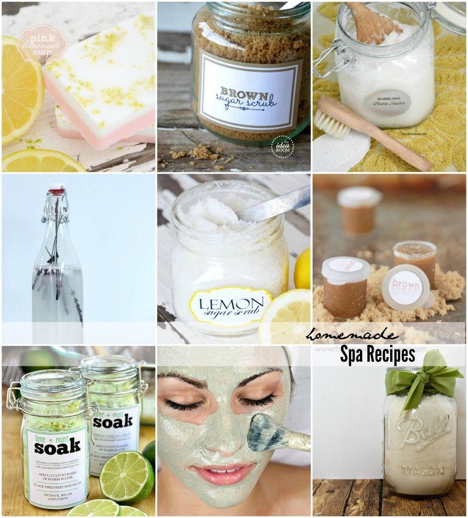 Homemade Spa Recipes Diy spa day, Diy spa, Spa day at home