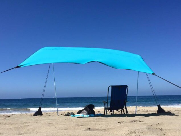 Summertime Blues Neso Sun Sail The Best Beach Tent For Your Groms Beach Shade Beach Tent Shade Tent