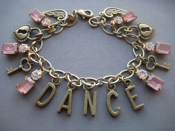 Dance Charm Bracelet Jewelry Ballet Gifts For Dancers Dancer Pink