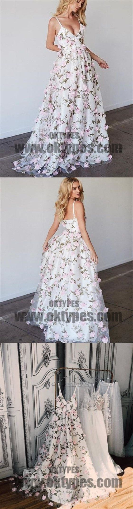 floral pink prom dress lace long prom dress handmade flower