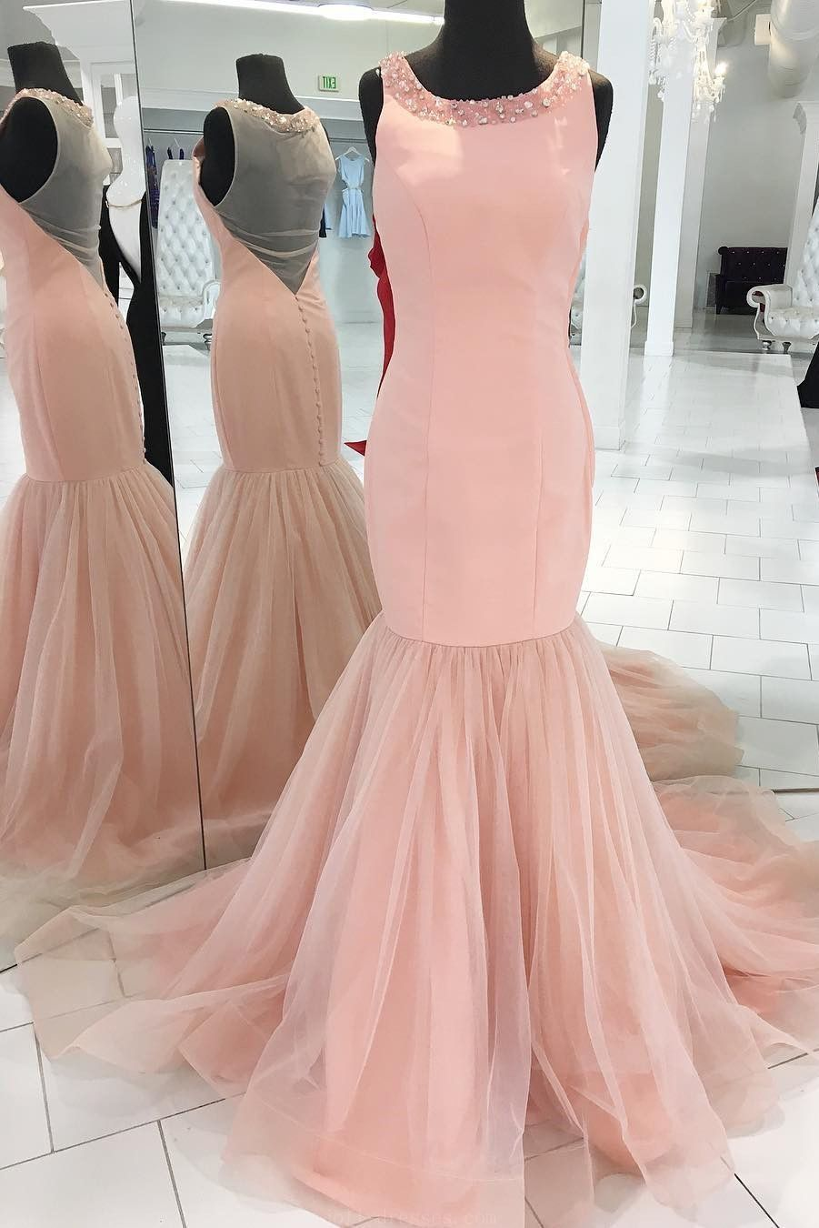 Customized trendy prom dresses prom dresses pink prom dresses