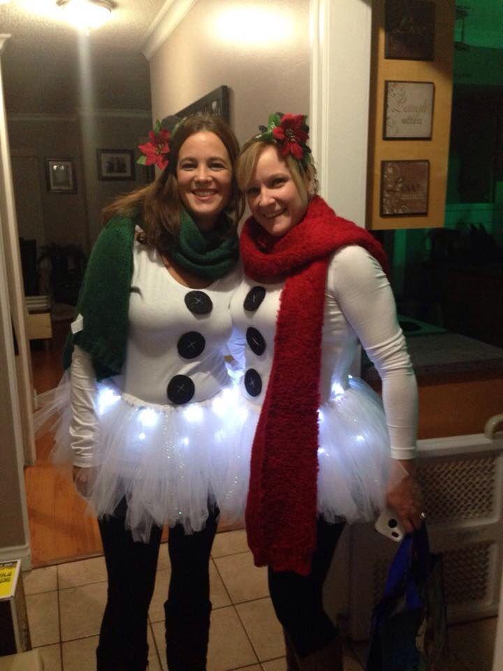 Simple DIY snowman costume