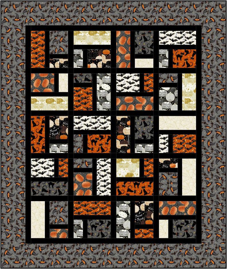 Halloween 2020 Digitalcopy Brickwork Quilt PDF Pattern (digital copy) in 2020 | Halloween
