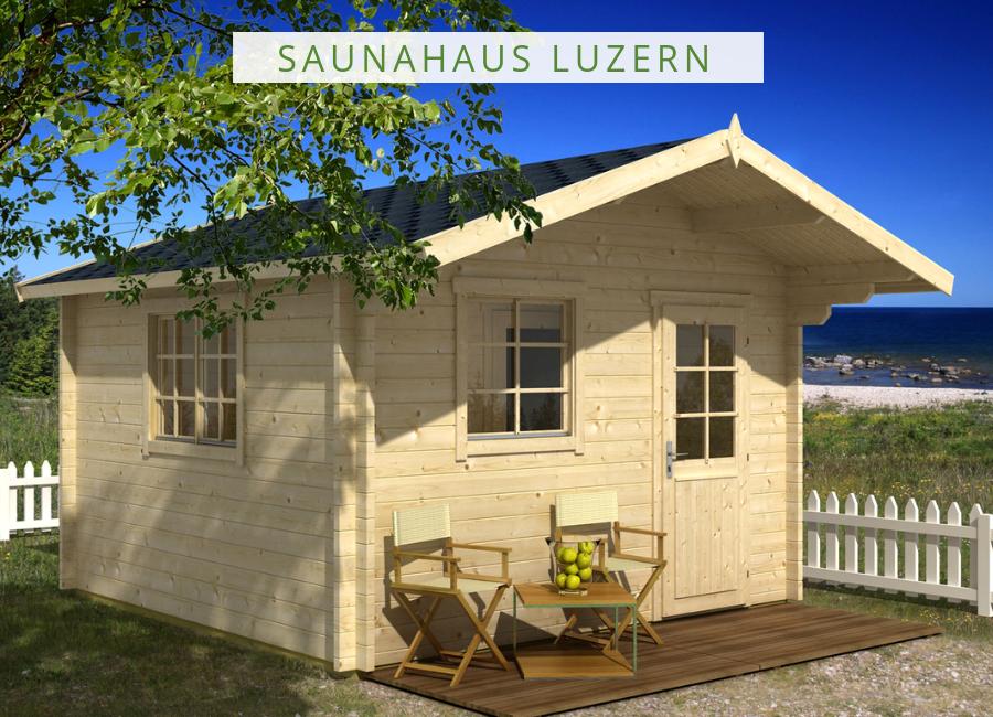 Saunahaus Modell Luzern70 Saunahaus, Gartensauna mit