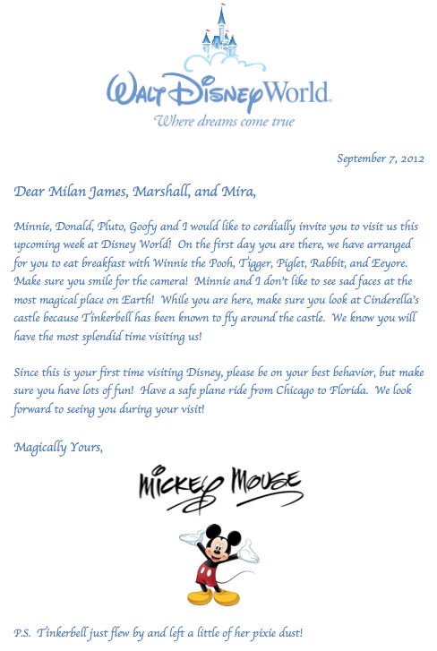 letter from mickey mouse fun way to announce you re
