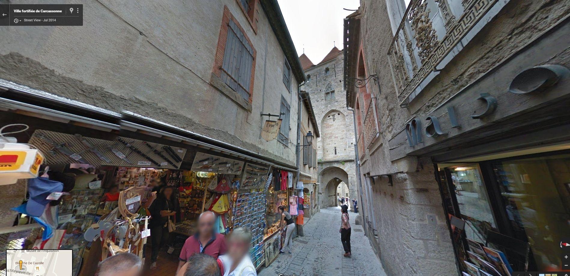 Ville fortifie de Carcassonne Google Maps Google Chrome