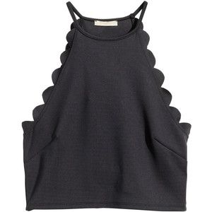 H&M Crop top with scalloped edges