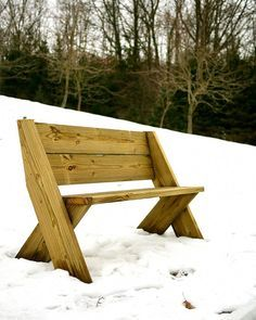 DIY Outdoor Bench in 30 mins w/ only 3 Tools!